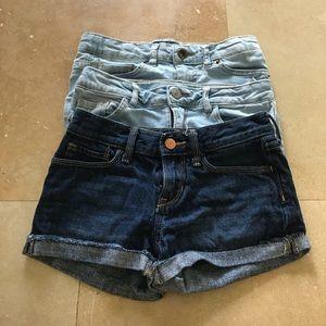 Zara, Lucky Brand, Levi's  denim shorts bundle of4